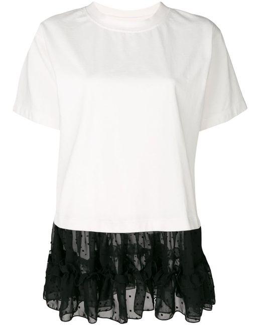 MM6 by Maison Martin Margiela レースパネル Tシャツ White