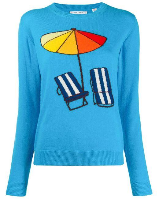 Chinti & Parker Beach セーター Blue