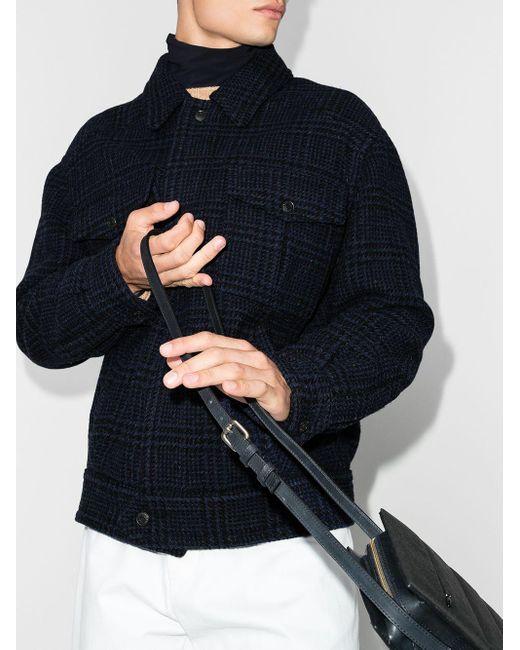 メンズ Isabel Marant Sanchez チェック シャツジャケット Blue