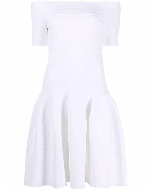 Alexander McQueen オフショルダー ドレス White