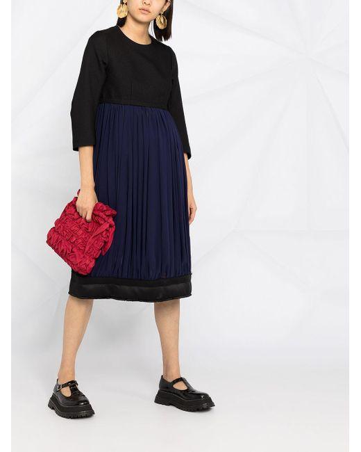 Comme des Garçons カラーブロック ドレス Blue