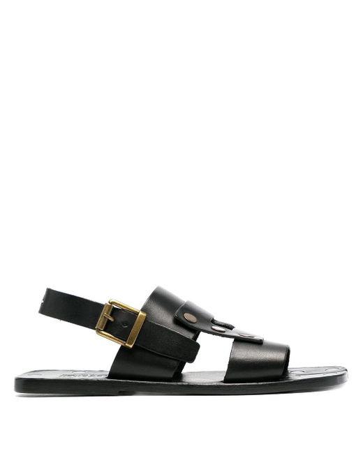 Maison Margiela Black Tabi Gladiator Sandals