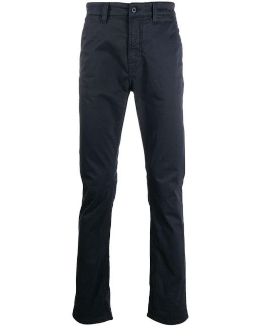 Nudie Jeans Blue Straight-leg Chino Trousers for men