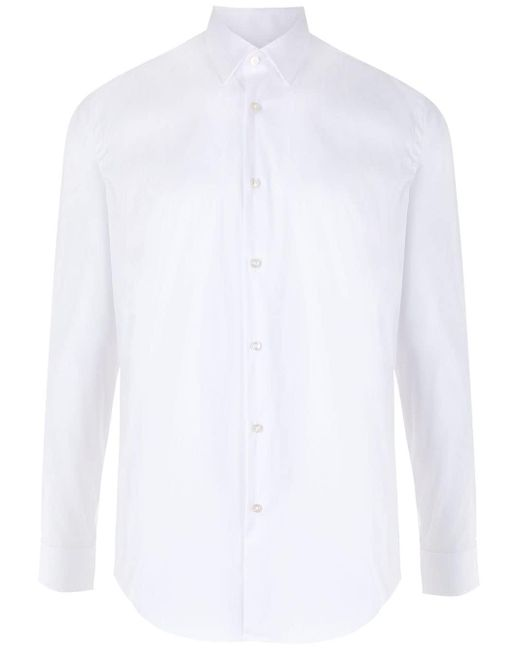 メンズ BOSS by Hugo Boss ポインテッドカラー シャツ White
