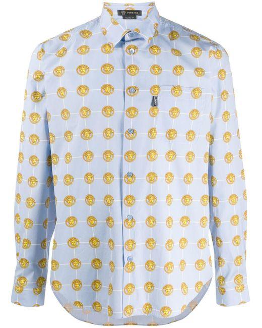 Versace Overhemd Met Multi-print in het Blue voor heren