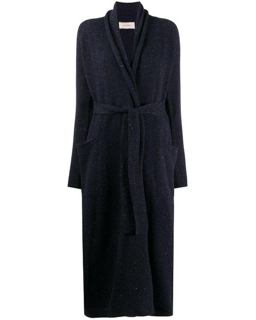 Cardigan long à ceinture Gentry Portofino en coloris Blue