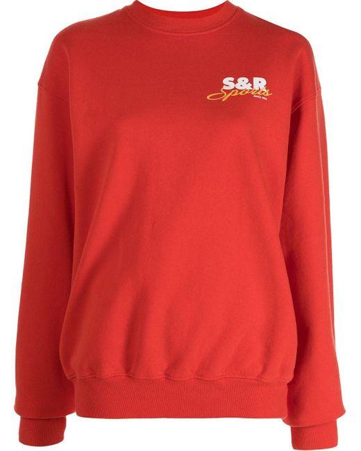 Sporty & Rich Sports プリント スウェットシャツ Red