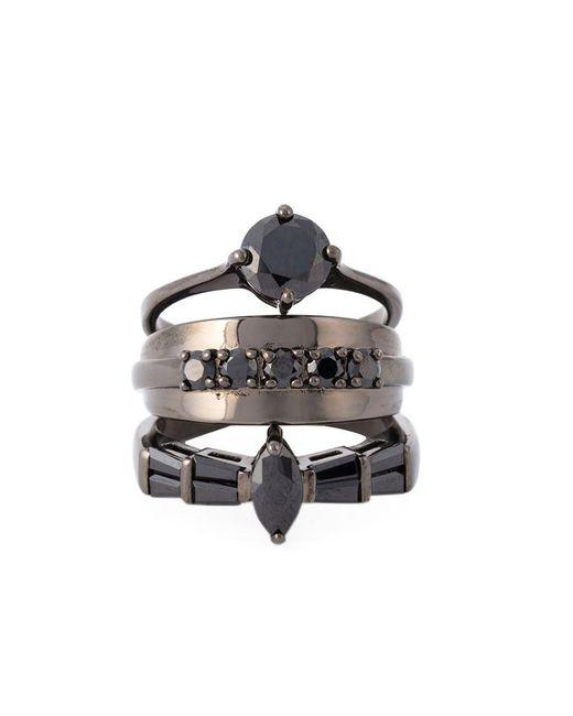 Iosselliani | Metallic 'black On Black Memento' Ring | Lyst