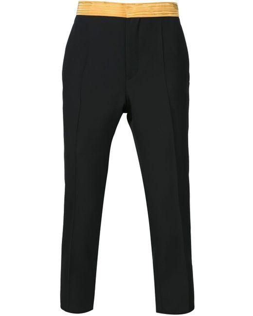 Haider Ackermann Black Waistband Trousers for men