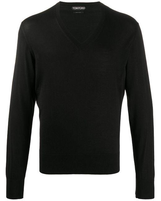 Джемпер С V-образным Вырезом Tom Ford для него, цвет: Black