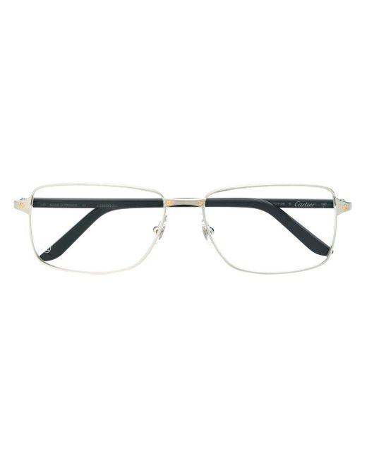 メンズ Cartier Santos De Cartier 眼鏡フレーム Multicolor