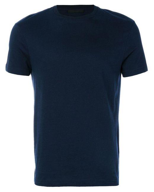 メンズ Prada クルーネック Tシャツ 3枚セット Blue