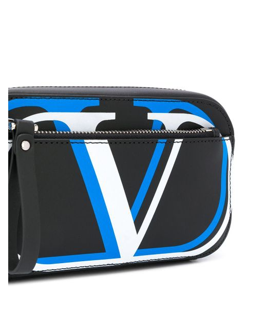 メンズ Valentino Garavani Vロゴ ベルトバッグ Black