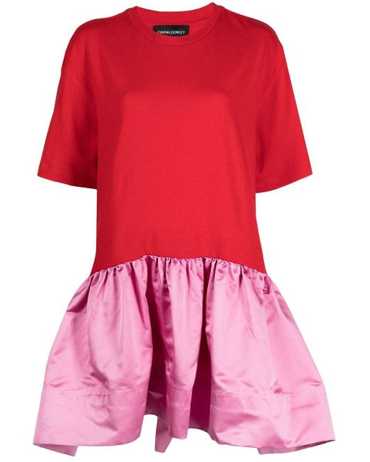 Cynthia Rowley ジャージーミニドレス Red