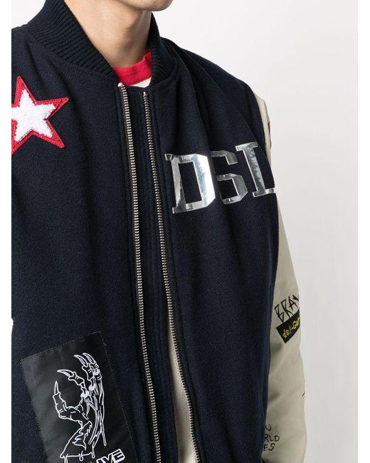 メンズ DIESEL Varsity ボンバージャケット Blue