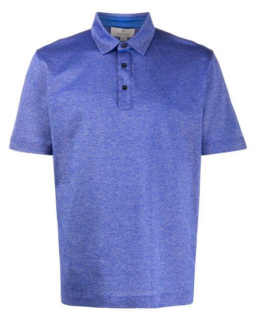 メンズ Canali ショートスリーブ ポロシャツ Blue