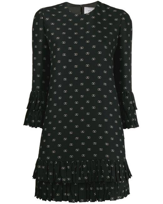Valentino Vロゴ シフトドレス Black