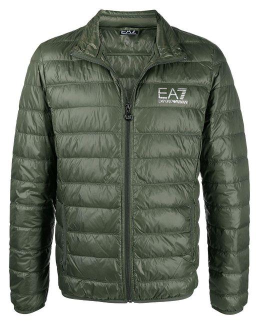 メンズ EA7 パデッドジャケット Green