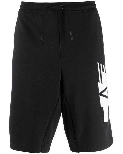 メンズ EA7 ロゴ ショートパンツ Black