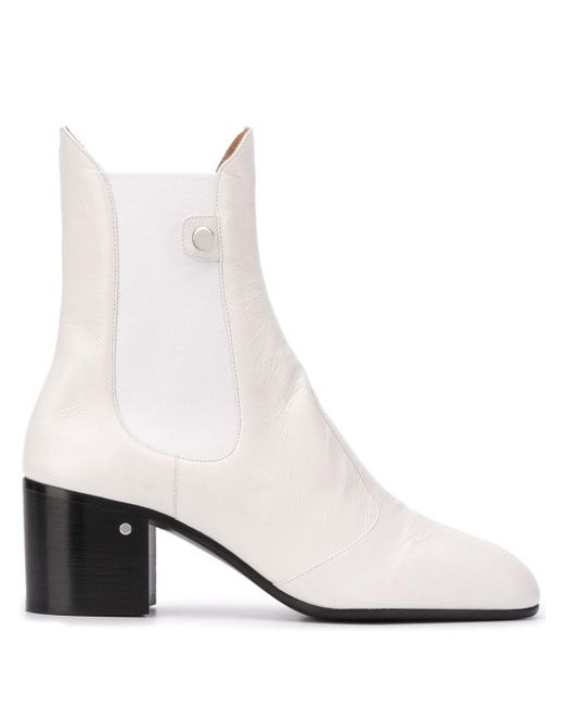 Ботильоны На Блочном Каблуке Laurence Dacade, цвет: White