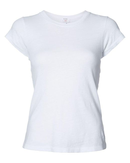 The 1960's Slim T shirt in het wit voor dames