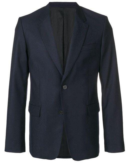 メンズ AMI Lined Two Buttons Jacket Blue