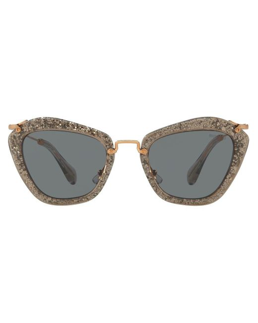 Miu Miu Noir Glitter Sunglasses Black