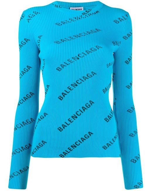 Balenciaga リブセーター Blue