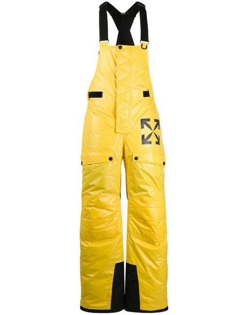 メンズ Off-White c/o Virgil Abloh ロゴ スキーサロペット Yellow