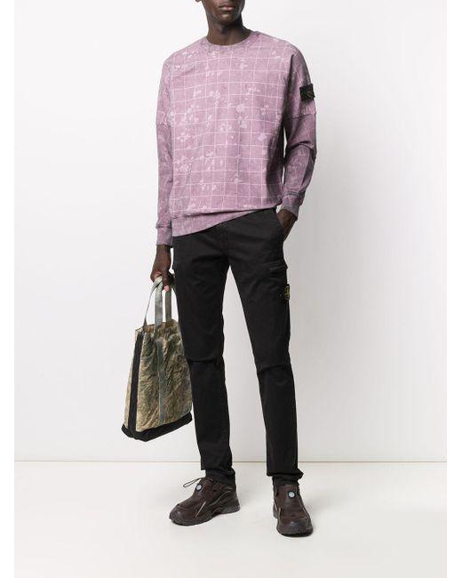 メンズ Stone Island クルーネック スウェットシャツ Purple