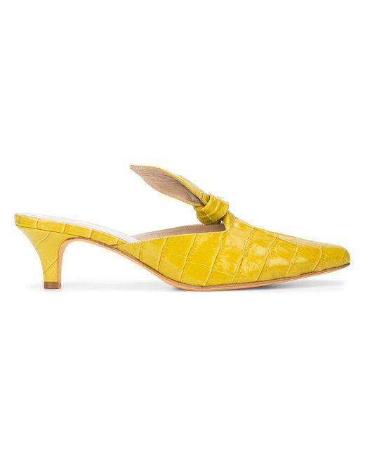 Maryam Nassir Zadeh - Yellow Palo Knotted Mules - Lyst