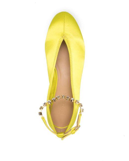 Балетки С Браслетом На Щиколотке J.W. Anderson, цвет: Yellow