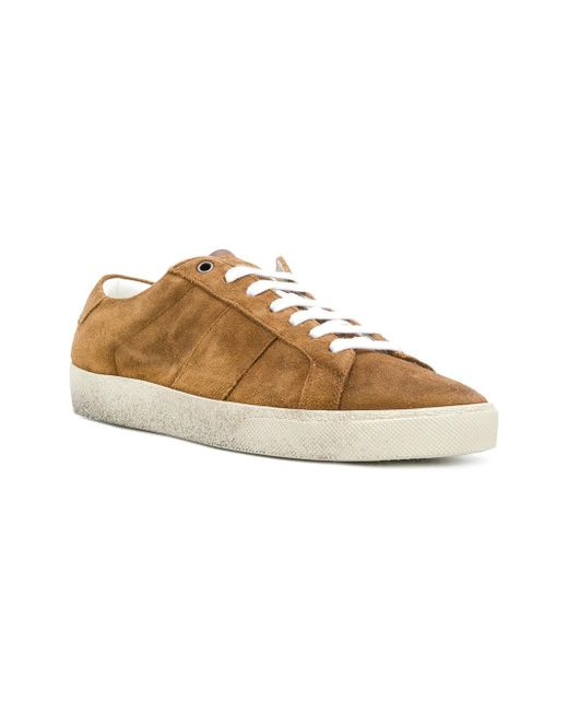 86163247f48a ... Saint Laurent - Brown Court Classic Sneakers for Men - Lyst ...
