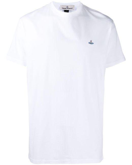 メンズ Vivienne Westwood クルーネック Tシャツ White