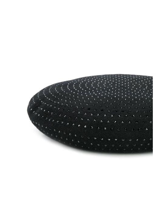 Saint Laurent ビジュートリム ベレー帽 Black