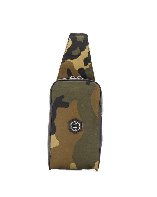 3231e11b55 Philipp Plein - Green Sac banane à imprimé camouflage for Men - Lyst ...