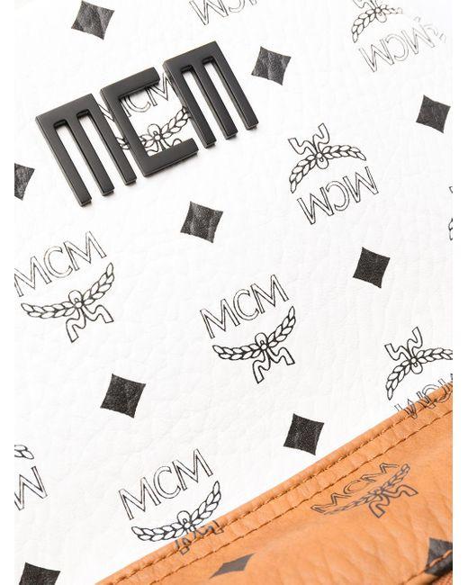 MCM White Small Stark Tri-colour Backpack for men