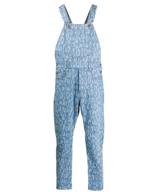 メンズ Just Cavalli レオパード オーバーオール Blue