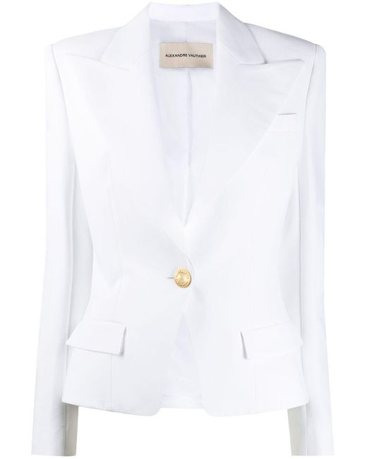 Alexandre Vauthier White Single Breasted Blazer