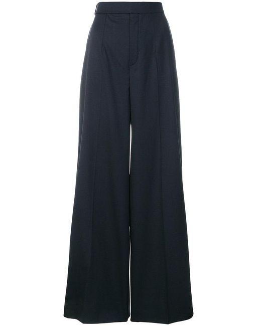 Chloé - Blue High Waisted Pleated Trousers - Lyst