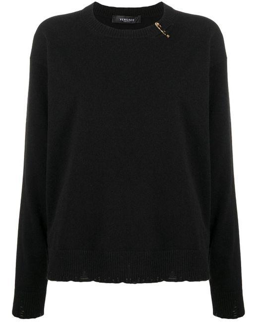 Джемпер С Декором Medusa Versace, цвет: Black