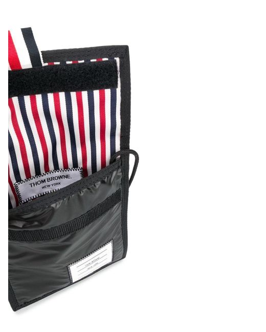Клатч На Липучке Thom Browne для него, цвет: Black