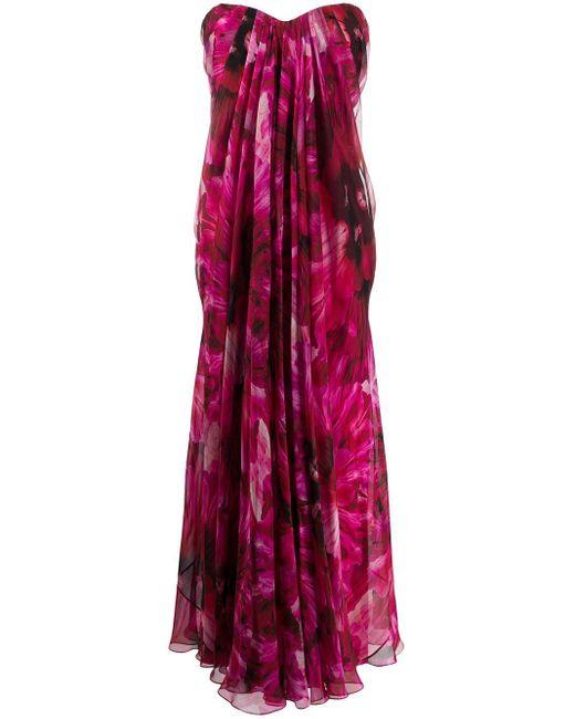 Alexander McQueen フローラル ドレス Pink
