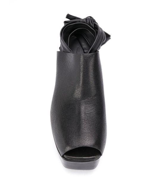 Босоножки Bea Arthur На Платформе Rick Owens, цвет: Black