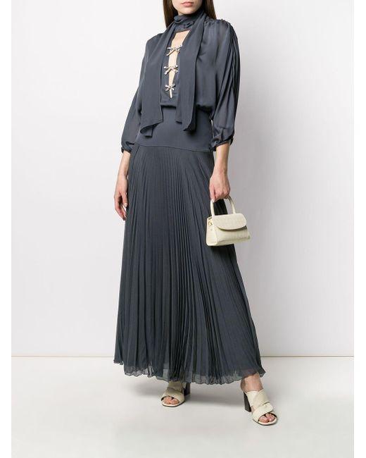 Chloé ビジュートリム ドレス Gray
