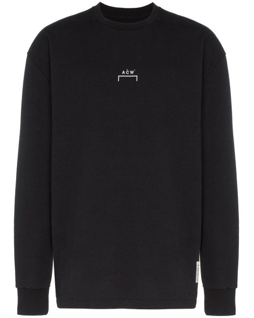 メンズ A_COLD_WALL* ロゴ スウェットシャツ Black
