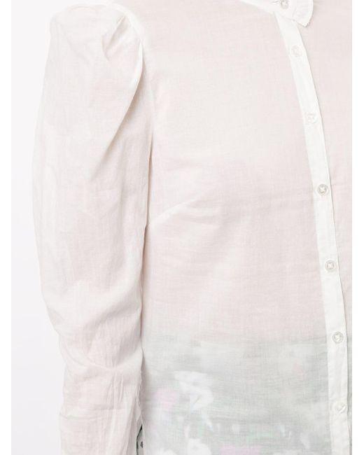 Veronica Beard Holli マンダリンカラー シャツ White