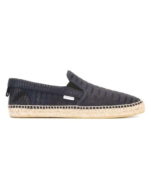 Jimmy Choo - Blue Vlad Men's Crocodile-print Espadrille Slip-on Sneaker for Men - Lyst