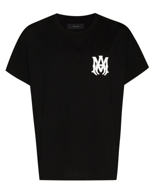 Amiri Black Logo Print Short-sleeve T-shirt for men