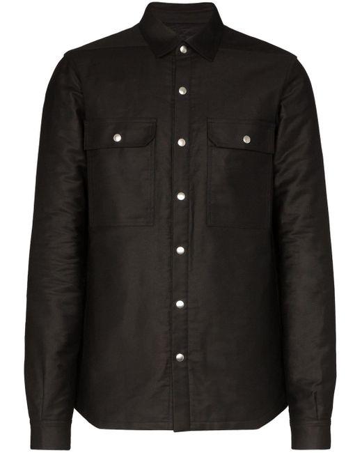 メンズ Rick Owens シャツジャケット Black